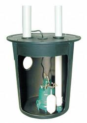 Zoeller 3/10 HP,Pump System,120V,Vertical Float  900-0002