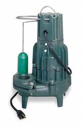 Zoeller 1 HP,Sewage Ejector Pump,230VAC  D293