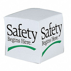 Quality Resource Group Slogan Memo Cube,Safety Begins Here  8109-2