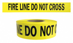 Presco Products Co Barricade Tape,Yellow/Black,1000ft x 3In  B3104Y15-200