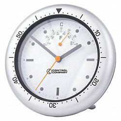 Control Company Wall Clock,Analog,Battery  1078