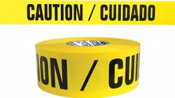 Sim Supply Barricade Tape,Yellow/Black,300ft x 3 In  B334Y13-200