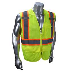 Radians® Type R Class 2 Multipurpose Surveyor Vest, Medium, Hi-Vis Lime, 1/Each