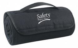 Sim Supply Blanket,Safety Begins Here,48x53in,Black  8DPM3