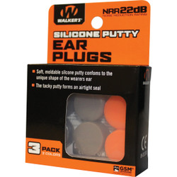 Walker's Silicone Putty Orange & Dark Earth Ear Plugs (3-Pair) GWP-SILPLG-OFDE Pack of 30