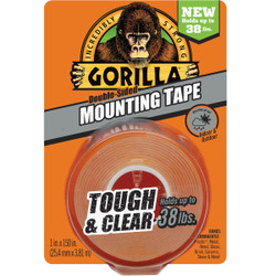 Gorilla 38lb Clr Mounting Tape 6036002 Pack of 6