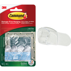 Command Clear Outdoor Light Clips with Foam Strips (16-Pack) 17017CLR-AWES Pack of 4