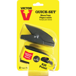 Victor Quick-Set Mechanical Mouse Trap (2-Pack) M137 Pack of 6