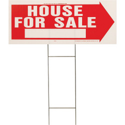 Hy-Ko Corrugated Plastic Sign, House For Sale RS-801 Pack of 5