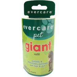 Evercare Pet 36.4 Ft. x 4.6 In. Giant Refill Roll Pet Hair Remover 617601 Pack of 4