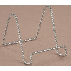 Tripar 4 In. Chrome Twisted Wire Plate Stand 23-1234 Pack of 6