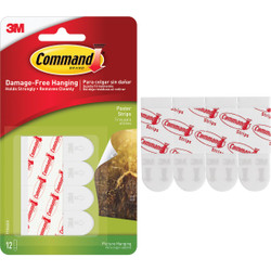 3M Command Poster Strip 17024ES-12PK Pack of 6