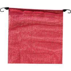Erickson 18 In. x 18 In. Fluorescent Red Polyester Mesh Caution Flag 05307 Pack of 6