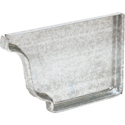 Amerimax 5 In. Galvanized Right Gutter End Cap 29206 Pack of 15
