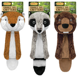 Westminster Pet Ruffin' it Crinkle Tail Critters 24 In. Squeaky Fox Dog Toy Pack of 3