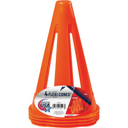 Franklin Flexi Cones 9 In. Field Marker Cone (4-Pack) 3130S1 Pack of 6