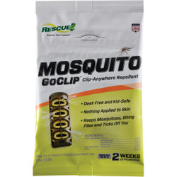Rescue GoClip 6-Day Yellow Personal Mosquito Repellent MGC-DB12 Pack of 12