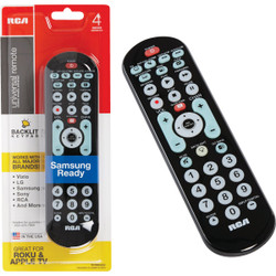 RCA 4-Device Universal Black Big Button Remote Control RCRBB04GBE Pack of 4