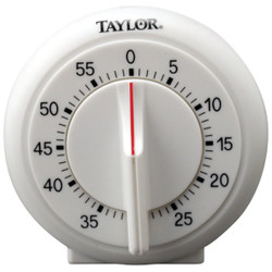 Taylor 60-Minute White Long Ring Timer 5831N Pack of 6