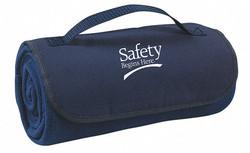 Sim Supply Blanket,Safety Begins Here,Navy Blue  9X691
