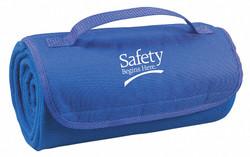Sim Supply Blanket,Safety Begins Here,Royal Blue  8UR98