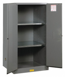 Justrite Flammable Safety Cabinet,60 Gal.,Gray  896003