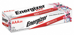 Energizer Battery,AAA,Alkaline,1.5VDC,Premium,PK24  E92