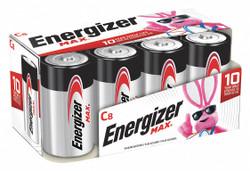 Energizer Battery,Alkaline,C,Premium,PK8  E93FP-8