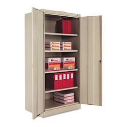 "Tennsco 72"" High Standard Cabinet (Unassembled), 36 X 24 X 72, Putty 1480PY"