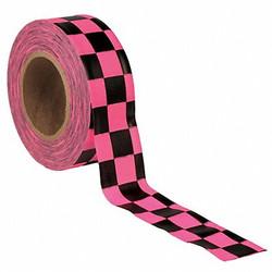 Presco Products Co Flagging Tape,Pnk Glo/Blk,150ft,1-3/16In  CKPGBK-200