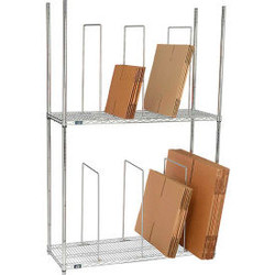 """Global Industrial Dual Level Carton Stand w/ 6 Dividers, 48""""L x 18""""W x 78-1/2""""H,"""