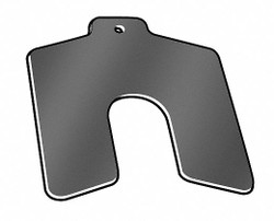 Precision Brand Slotted Shim,Tab,AA,0.0020 In,PK20  42103
