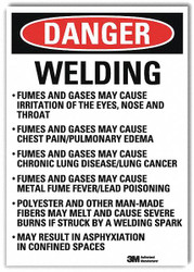 Lyle Danger Sign,10inx7in,Reflective Sheeting  U3-2075-RD_7X10