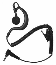 Earphone Connection Earhook Listen Only Earpiece,Black  EP1BC