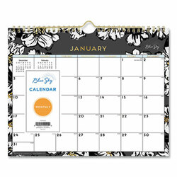 Blue Sky Baccara Dark Wall Calendar, 11 X 8.75, 2022 116052