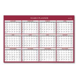 Blue Sky Laminated Classic Red Calendar, 36 X 24, 2022 116054