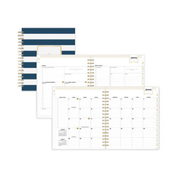 Blue Sky Day Designer Daily/Monthly Planner, 10 X 8, Navy/White, 2022 103622