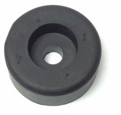 Sim Supply Bumper,1-1/2in.,Black,Rubber,PK10  10192-017U