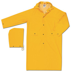 MCR Safety® Classic 2-Piece Raincoat, Large, Yellow, 1/Each
