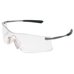 MCR Safety® Rubicon® Eyewear, Platinum Temple, Clear Anti-Fog Lens, 1/Each
