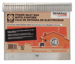 Generac Power Inlet Box,30 Amp AC  6343