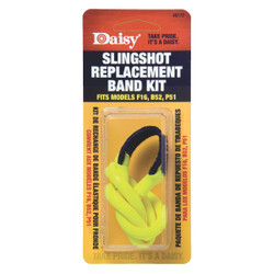 Daisy Yellow Slingshot Replacement Assembly Bands 8172 Pack of 6