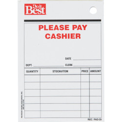 Centurion 3 In. x 4-1/4 In. 50 sheets Receipt Pad REC PAD-DI Pack of 52
