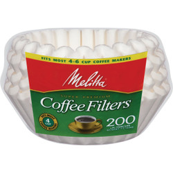 Melitta 4-6 Cup Coffee Filter (200-Pack) 62914 Pack of 12