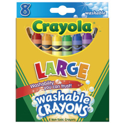 Crayola Large Washable Crayons (8-Pack) 52-3280 Pack of 24
