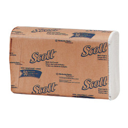 Kimberly Clark Scott Essential Multi-Fold White Hand Towel (16 Count) 01804 Pack of 30