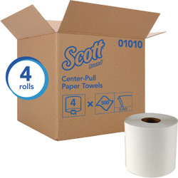 Kimberly Clark Scott Essential Center-Pull Flow Roll Towel (4 Count) 01010 Pack of 6