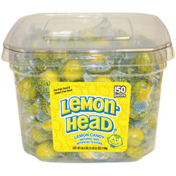 Lemon Head 0.3 Oz. Individually Wrapped Lemon Candy Display (150-Count) 123093 Pack of 4