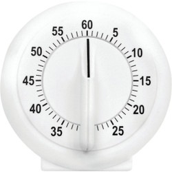 Acurite 60-Minute White Long Ring Timer 00957A2 Pack of 6