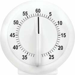 Acurite 60-Minute White Long Ring Timer 00957A2 Pack of 36